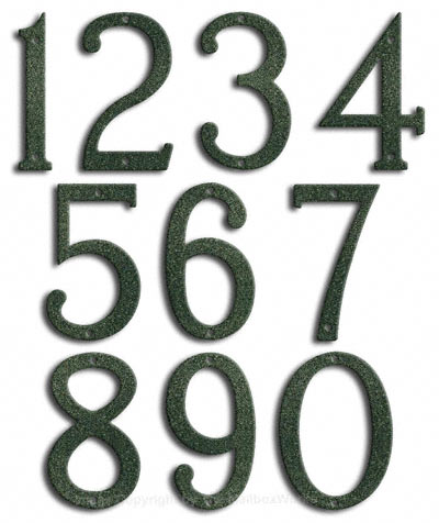Medium Patina House Numbers by Majestic 8 Inch