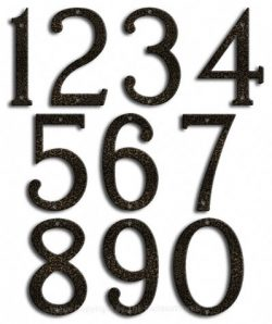 Medium Silver Vein House Numbers Majestic