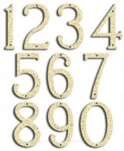 Medium White Vein House Numbers Majestic