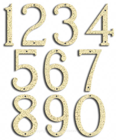 Medium White Vein House Numbers by Majestic 8 Inch