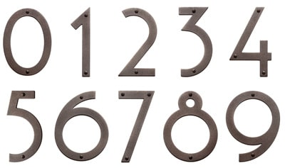 Majestic 6 Inch Bronze Noble House Numbers