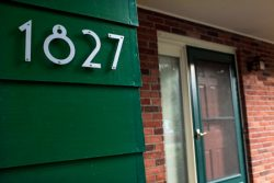 Majestic Silver Noble House Numbers Installed