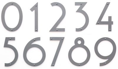 Large Silver Noble 6 Inch Majestic House Numbers