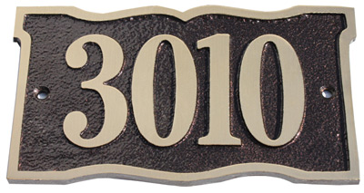 Majestic Solid Brass Prairie Dupont Address Plaques