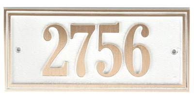 Majestic Solid Brass Small Double Border Address Plaques
