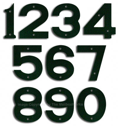 Majestic Small Forest Green House Numbers