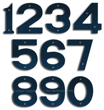 Majestic Small Navy Blue House Numbers
