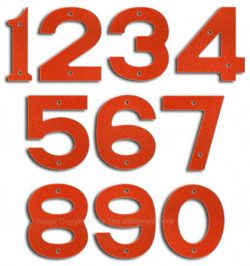 Majestic Small Ruby Red House Numbers
