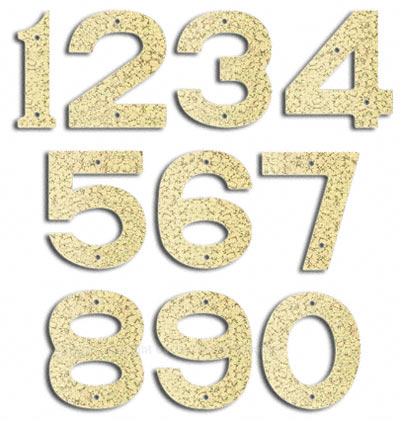 Majestic Small White Vein House Numbers