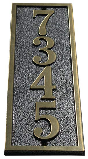 Majestic Solid Brass St Clair Address Plaques