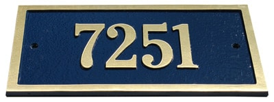 Majestic Solid Brass St Hubert Address Plaques