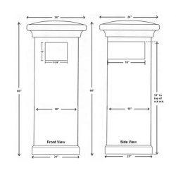 QualArc Manchester Stucco Column Dimensions