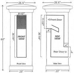 QualArc Locking Manchester Stucco Column Dimensions
