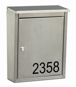 Metropolis Wall Mount Mailbox Front Lettering