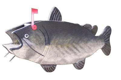 Woodendipity Style Catfish Novelty Mailbox