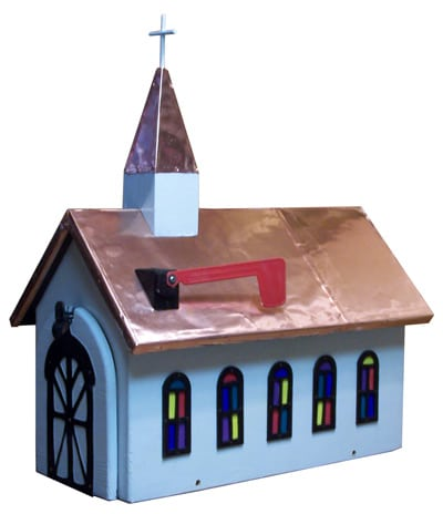 Copper Roof Church Novelty Mailbox