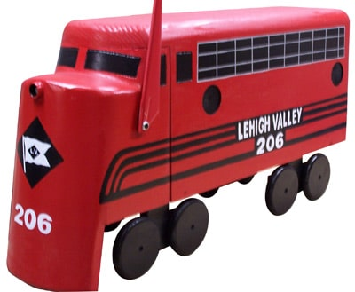 Diesel Train Engine Novelty Mailbox