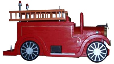 Pinehill Woodcraft Fire Truck Novelty Mailboxes