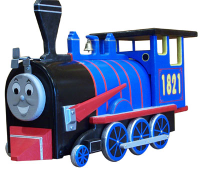 Kids Train Engine Novelty Mailbox