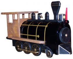 Natural Train Engine Novelty Mailbox