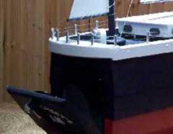 Pinehill Woodcraft Sail Boat Close Up