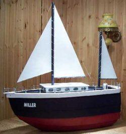 Sail Boat Novelty Mailbox