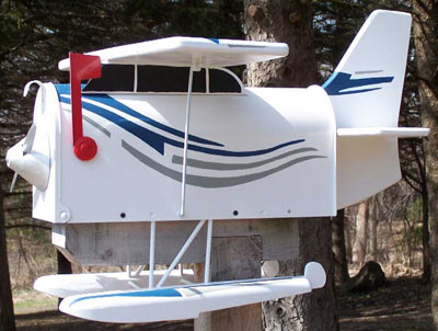 Sea Plane Novelty Mailbox
