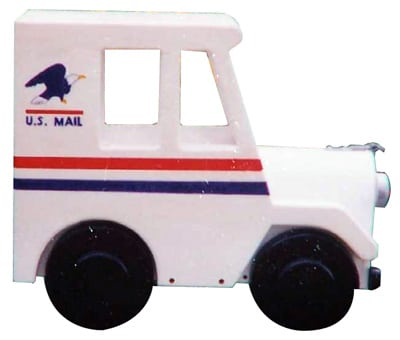 US Mail Truck Novelty Mailbox