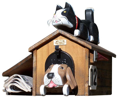 Woodendipity Style Dog House Novelty Mailbox