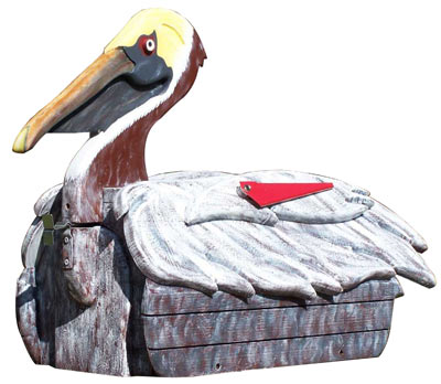 Woodendipity Style Pelican Novelty Mailbox