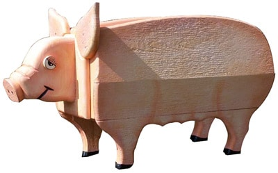 Woodendipity Style Pig Novelty Mailbox