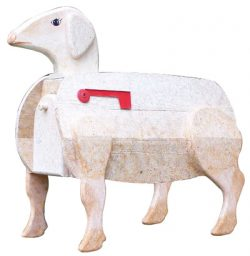 Woodendipity Style Sheep Novelty Mailbox