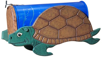 Woodendipity Style Sea Turtle Novelty Mailbox