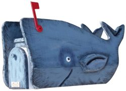Woodendipity Style Whale Novelty Mailbox