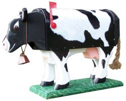 Woodendipity Style Cow Novelty Mailbox