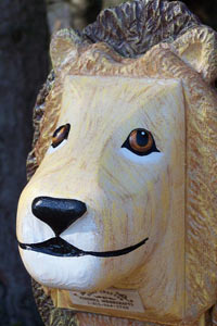 Pinehill Woodcraft Lion Close Up
