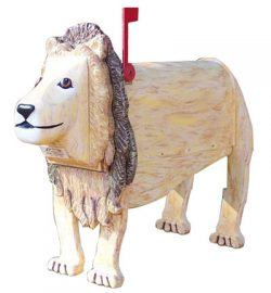 Woodendipity Style Lion Novelty Mailbox