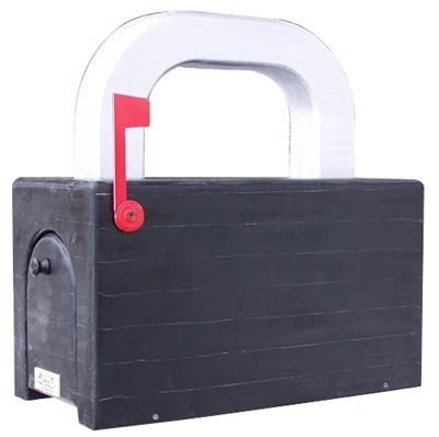Padlock Novelty Post Mount Mailboxes