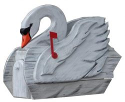 Woodendipity Style Swan Novelty Mailbox