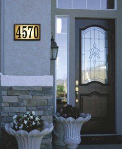 QualArc Bayside Lighted Address Plaque Installed