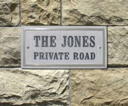 QualArc Chesterfield Rectangle Address Plaque Installed