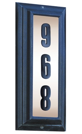 QualArc Edgewood Vertical Lighted Address Plaque