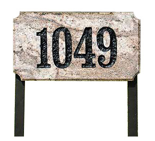 QualArc Executive Rectangle Granite Lawn Marker