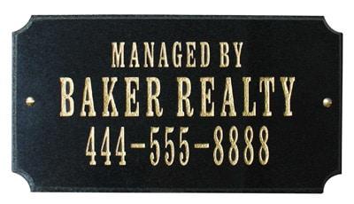 QualArc Executive Rectangle Granite Address Plaque Product Image