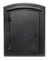 Manchester Mailbox Black Plain Door
