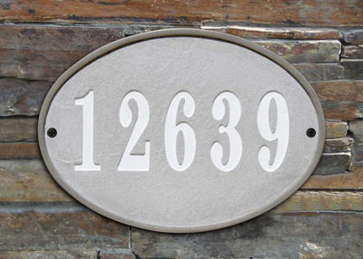 QualArc Oakfield Oval Address Plaque Installed