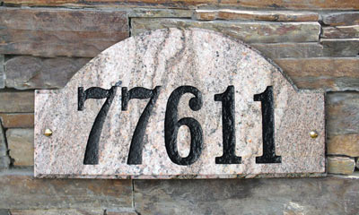 QualArc Ridgecrest Arch Address Plaque Installed