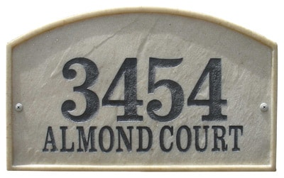 QualArc Riviera Arch Architectural Address Plaque