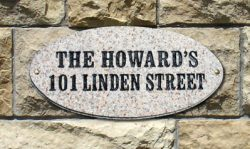 QualArc Rockport Oval Address Plaque Installed