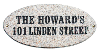 QualArc Rockport Oval Granite Address Plaque